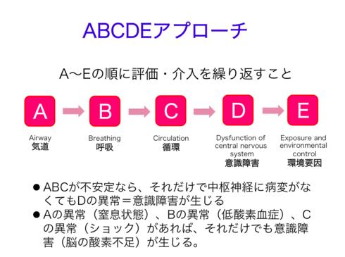 ABCDEアプローチ【体系的アプローチ】